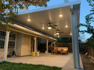 Solid Patio Cover, Fans and Lights